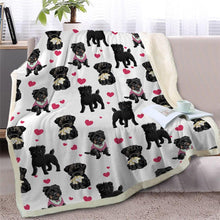 Load image into Gallery viewer, Infinite American Pitbull Terrier Love Warm Blanket - Series 2Home DecorBlack Furry Dog - SmallMedium