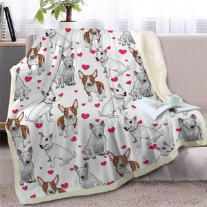 Infinite Australian Shepherd Love Warm Blanket - Series 1Home DecorBull TerrierMedium