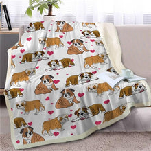 Load image into Gallery viewer, Infinite Australian Shepherd Love Warm Blanket - Series 1Home DecorEnglish BulldogMedium