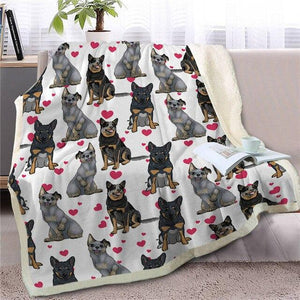 Infinite Australian Shepherd Love Warm Blanket - Series 1Home DecorGerman ShepherdMedium