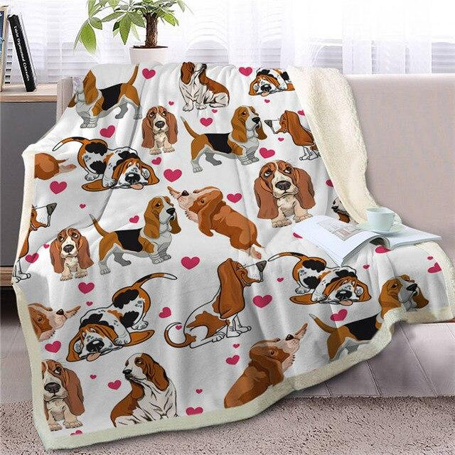 Infinite Basset Hound Love Warm Blanket - Series 1Home DecorBasset HoundMedium
