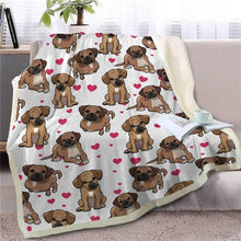 Load image into Gallery viewer, Infinite Basset Hound Love Warm Blanket - Series 1Home DecorBlack Mouth CurMedium
