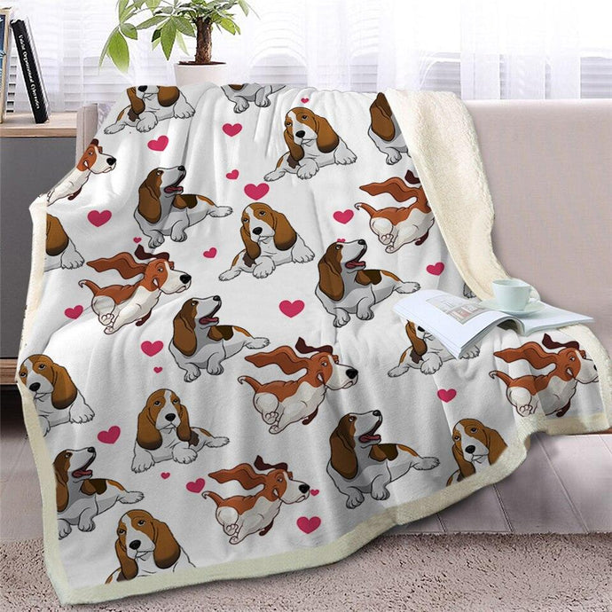 Infinite Basset Hound Love Warm Blanket - Series 2Home DecorBasset HoundMedium