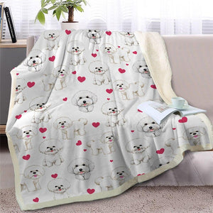 Infinite Basset Hound Love Warm Blanket - Series 2Home DecorBichon FriseMedium