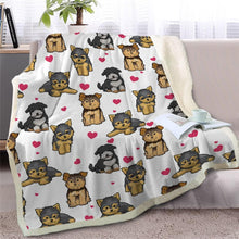 Load image into Gallery viewer, Infinite Basset Hound Love Warm Blanket - Series 2Home DecorBlack Furry Dog - Option 2Medium