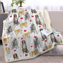Load image into Gallery viewer, Infinite Basset Hound Love Warm Blanket - Series 2Home DecorBorzoiMedium