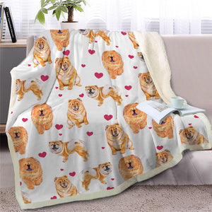 Infinite Basset Hound Love Warm Blanket - Series 2Home DecorChow ChowMedium