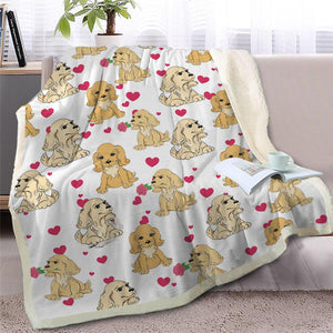 Infinite Basset Hound Love Warm Blanket - Series 2Home DecorCocker Spaniel - Option 1Medium