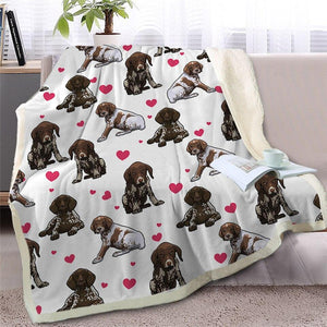 Infinite Basset Hound Love Warm Blanket - Series 2Home DecorGerman Shorthaired PointerMedium