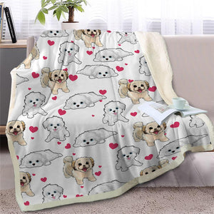 Infinite Basset Hound Love Warm Blanket - Series 2Home DecorMaltese / Shih TzuMedium