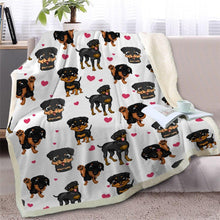 Load image into Gallery viewer, Infinite Basset Hound Love Warm Blanket - Series 2Home DecorMiniature PinscherMedium