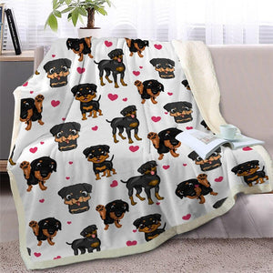Infinite Basset Hound Love Warm Blanket - Series 2Home DecorMiniature PinscherMedium