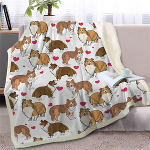 Infinite Basset Hound Love Warm Blanket - Series 2Home DecorShetland SheepdogMedium