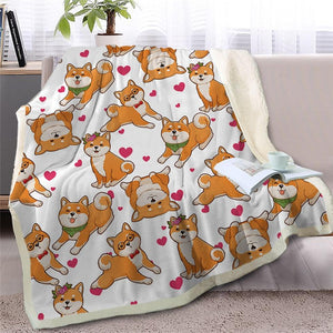 Infinite Basset Hound Love Warm Blanket - Series 2Home DecorShiba InuMedium