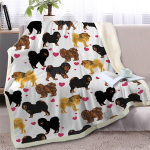 Infinite Basset Hound Love Warm Blanket - Series 2Home DecorTibetan MastiffMedium