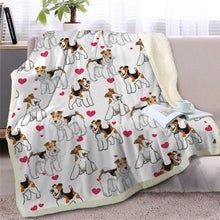 Load image into Gallery viewer, Infinite Basset Hound Love Warm Blanket - Series 2Home DecorWire Fox Terrier - Option 1Medium