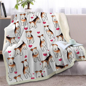 Infinite Basset Hound Love Warm Blanket - Series 2Home DecorWire Fox Terrier - Option 2Medium