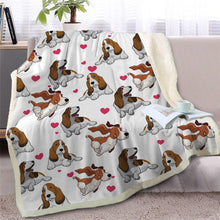 Load image into Gallery viewer, Infinite Bichon Frise Love Warm Blanket - Series 2Home DecorBasset HoundMedium