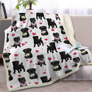 Infinite Bichon Frise Love Warm Blanket - Series 2Home DecorBlack Furry Dog - SmallMedium