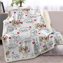 Load image into Gallery viewer, Infinite Bichon Frise Love Warm Blanket - Series 2Home DecorMaltese / Shih TzuMedium