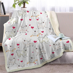 Infinite Bichon Frise Love Warm Blanket - Series 2Home DecorPomeranianMedium