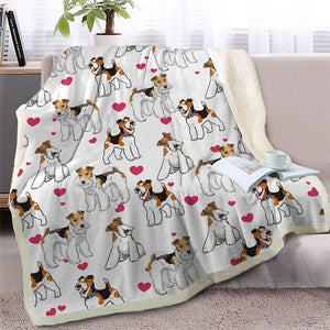 Infinite Bichon Frise Love Warm Blanket - Series 2Home DecorWire Fox Terrier - Option 1Medium