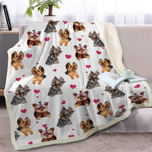 Infinite Bichon Frise Love Warm Blanket - Series 2Home DecorYorkshire TerrierMedium