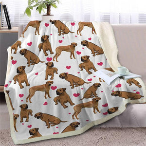 Infinite Boston Terrier Love Warm Blanket - Series 1Home DecorRhodesian RidgebackMedium