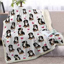Load image into Gallery viewer, Infinite Bull Terrier Love Warm Blanket - Series 1Home Decor
