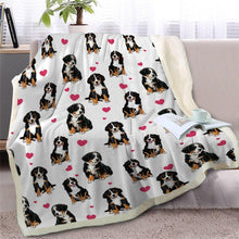 Load image into Gallery viewer, Infinite Bull Terrier Love Warm Blanket - Series 1Home DecorBernese Mountain DogMedium