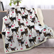 Load image into Gallery viewer, Infinite Bull Terrier Love Warm Blanket - Series 1Home DecorMiniature PinscherMedium