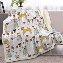 Load image into Gallery viewer, Infinite Bull Terrier Love Warm Blanket - Series 1Home DecorShiba InuMedium