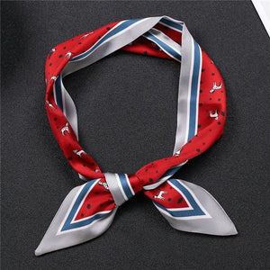Infinite Dalmatians Love Womens Silk Neck ScarvesAccessories