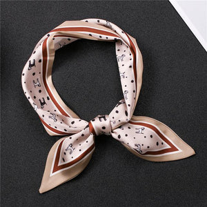 Infinite Dalmatians Love Womens Silk Neck ScarvesAccessoriesLight Mauve