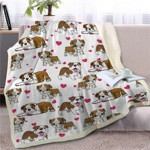 Load image into Gallery viewer, Infinite English Bulldog Love Warm Blanket - Series 1Home Decor