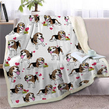 Load image into Gallery viewer, Infinite English Bulldog Love Warm Blanket - Series 1Home DecorBeagleMedium