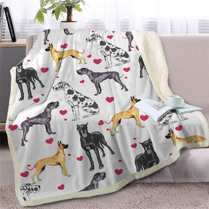 Infinite Great Dane Love Warm Blanket - Series 2Home DecorGreat DaneMedium