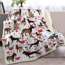 Load image into Gallery viewer, Infinite Orange Pomeranian Love Warm Blanket - Series 1Home DecorBelgian MalonisMedium