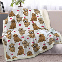 Load image into Gallery viewer, Infinite Orange Pomeranian Love Warm Blanket - Series 1Home DecorGoldendoodleMedium