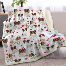 Load image into Gallery viewer, Infinite Orange Pomeranian Love Warm Blanket - Series 1Home DecorPapillonMedium