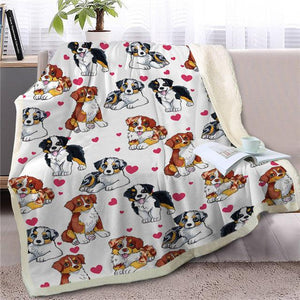 Infinite Shiba Inu Love Warm Blanket - Series 1Home DecorAustralian ShepherdMedium