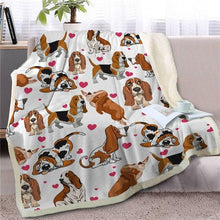 Load image into Gallery viewer, Infinite Shiba Inu Love Warm Blanket - Series 1Home DecorBasset HoundMedium