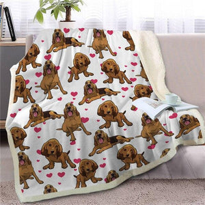 Infinite Shiba Inu Love Warm Blanket - Series 1Home DecorBloodhoundMedium