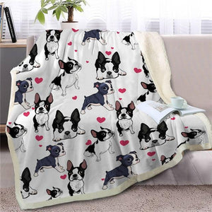 Infinite Shiba Inu Love Warm Blanket - Series 1Home DecorBoston TerrierMedium