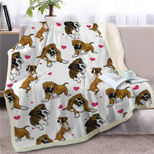 Load image into Gallery viewer, Infinite Shiba Inu Love Warm Blanket - Series 1Home DecorBoxerMedium