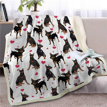 Load image into Gallery viewer, Infinite Shiba Inu Love Warm Blanket - Series 1Home DecorDobermanMedium