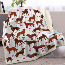 Load image into Gallery viewer, Infinite Shiba Inu Love Warm Blanket - Series 1Home DecorIrish SetterMedium