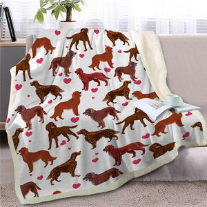 Infinite Shiba Inu Love Warm Blanket - Series 1Home DecorIrish SetterMedium