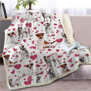 Infinite Shiba Inu Love Warm Blanket - Series 1Home DecorJack Russell TerrierMedium