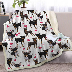 Infinite Shiba Inu Love Warm Blanket - Series 1Home DecorMiniature PinscherMedium